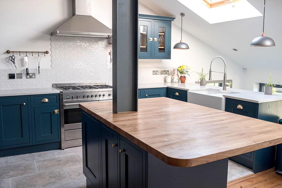 Hardwood kitchen worktop
